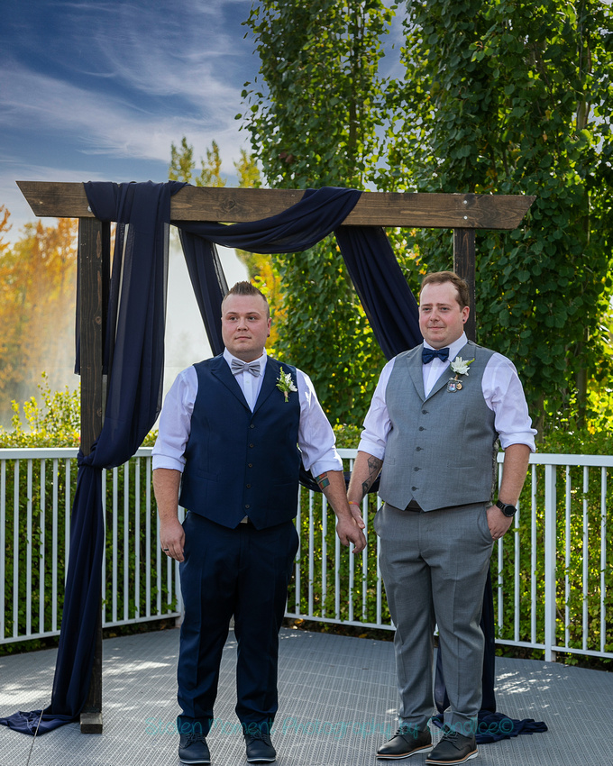 Two grooms get married at Eagle Rock Golf Club