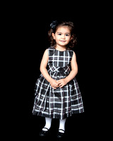 Little girl in photography studio