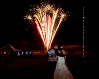Country Wedding Photo with Fireworks