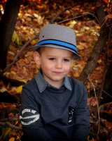 Little boy in hat in Fort Saskatchewan