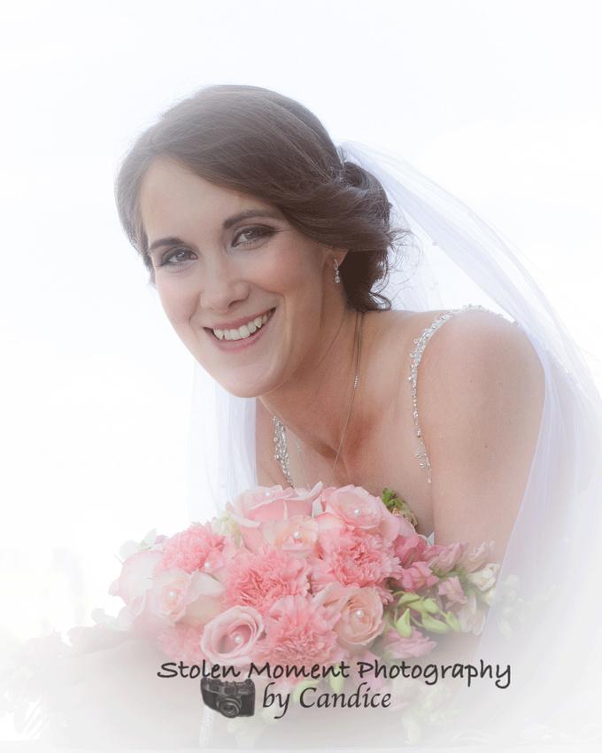 close up of bride