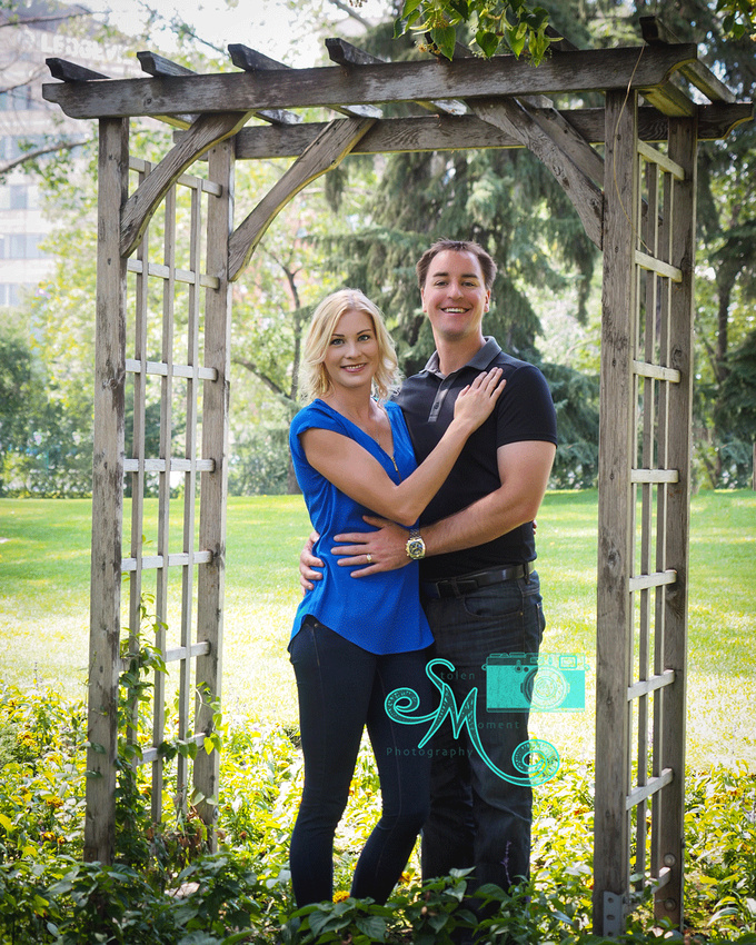 couple under arbour