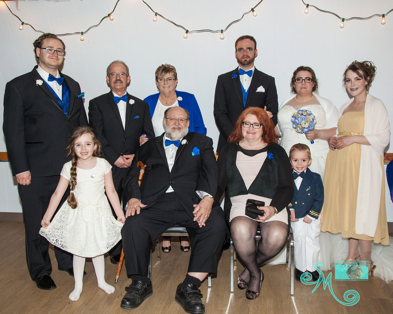 family of bride and groom together