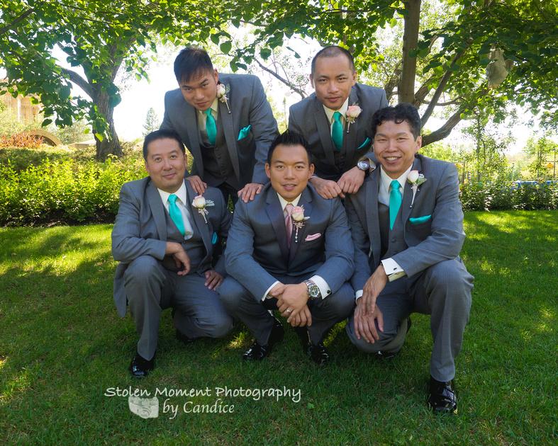 groom and groomsmen shot
