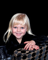 photo of little girl in photography studio