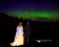 Northern Lights Edmonton Wedding Photographer